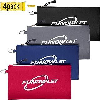 zipper bags canvas 4 pack