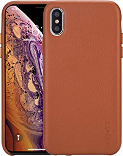 rejazz iPhone Xs max Case Anti-Scratch iPhone Xs max Cover Genuine Leather Apple iPhone Cases for iPhone Xs max (6.5 Inch)(Brown)