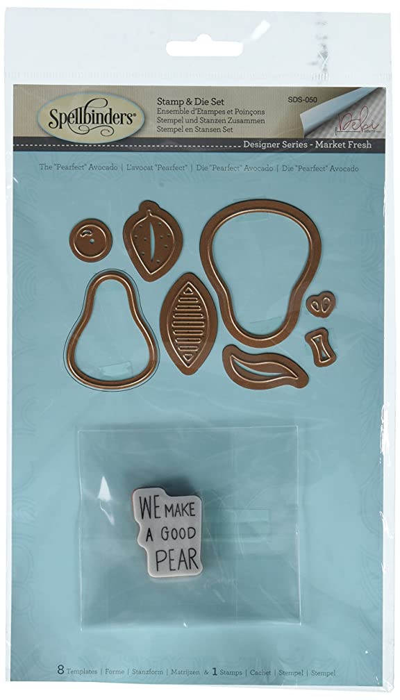 Spellbinders The The Pearfect Avocado Stamp & Die Set