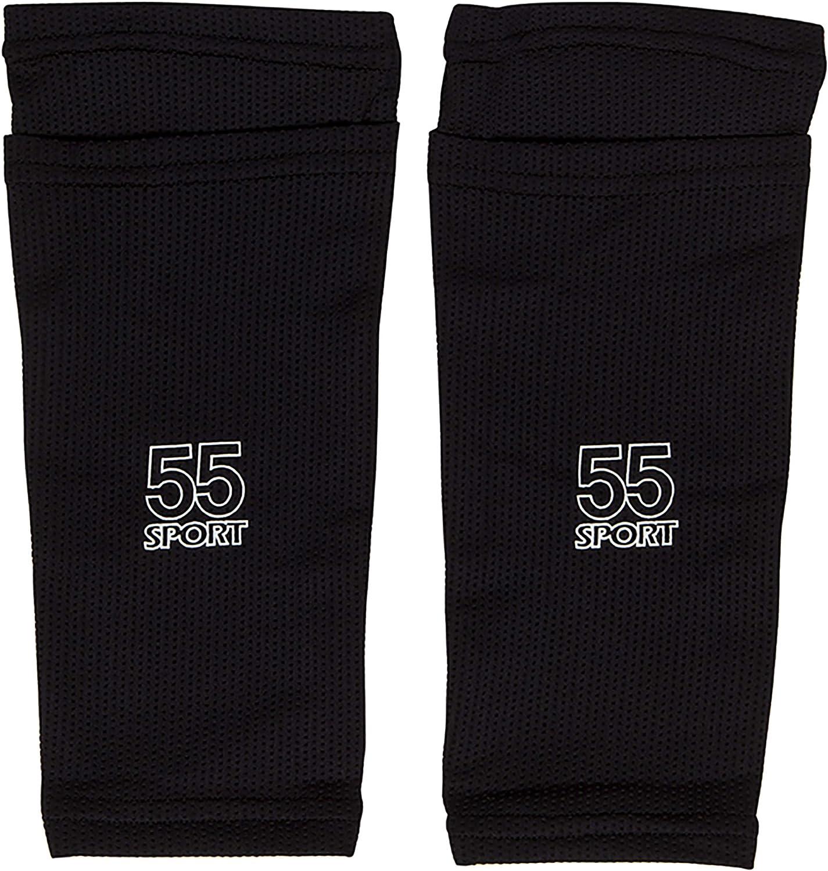 55 Sport Vortex Pro Espinilleras protectoras de f/útbol con manga de compresi/ón