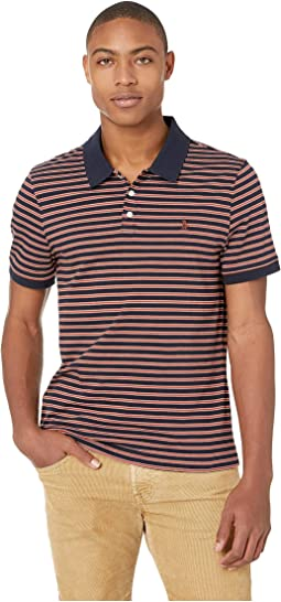 Short Sleeve Ticking Stripe Polo