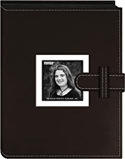Pioneer FAS-24/DBN Photo Albums 24 Pocket Sewn Leatherette Frame Cover Album with Strap Closure for 4 by 6-Inch Prints, Da...