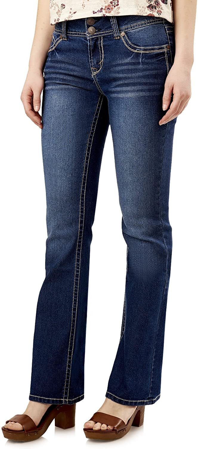 Mail order WallFlower Women's Juniors Luscious Selling and selling Denim Curvy Bootcut Stretch