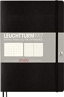 Leuchtturm1917 B5 2020 Monthly Planner and Notebook- 16 Months, Black