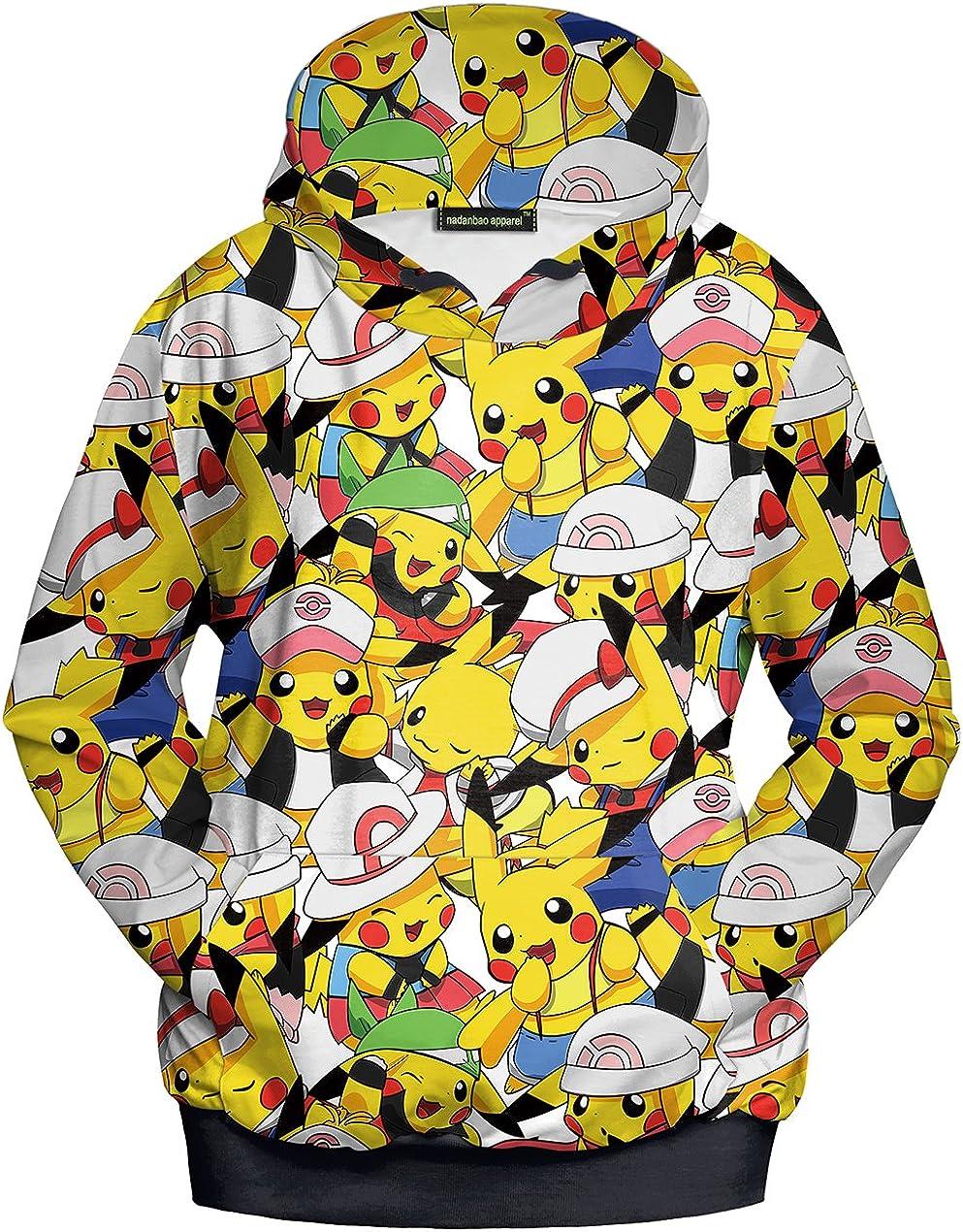 Lu&lu Men Women Cartoon Hoodie 3D Printed Sweatshirt Pullover Blouse Jacket S-XL