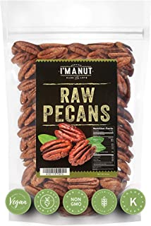 Raw Pecans Halves, 44oz (2.75 Pounds) Compares to Organic, NO PPO, Unpasteurized, 100% Natural, Extra Fancy...