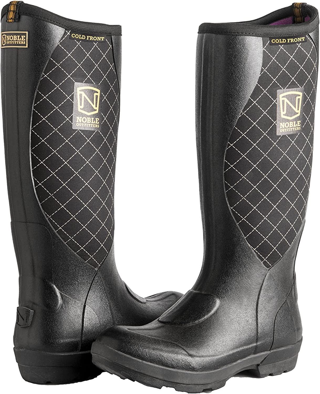 Noble Outdoor Boots Womens Muds Muck Cold High 9 Black 66002