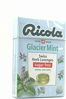 Ricola Swiss Herb Lozenges Sugar Free Glacier Mint 45g (Pack of 6)