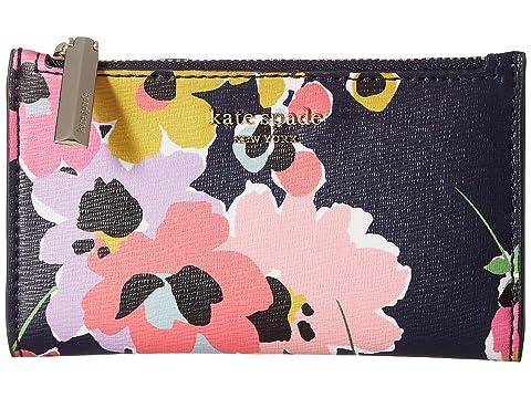 Kate Spade New York Sylvia Wildflower Bouquet Small Slim Bifold Wallet