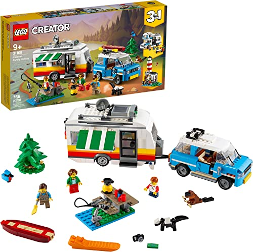 discount LEGO Creator 3in1 Caravan Family Holiday 31108 Vacation Toy Building online sale Kit for Kids Who online sale Love Creative Play and Camping Adventure Playsets with Cute Animal Figures, New 2020 (766 Pieces) outlet online sale