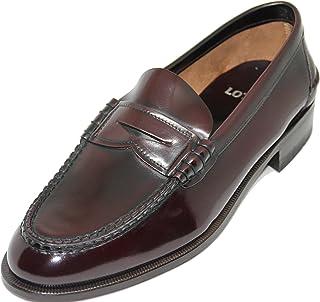 57.Zapato mocasín con Antifaz;Piel de máxima Calidad,Color Burdeos