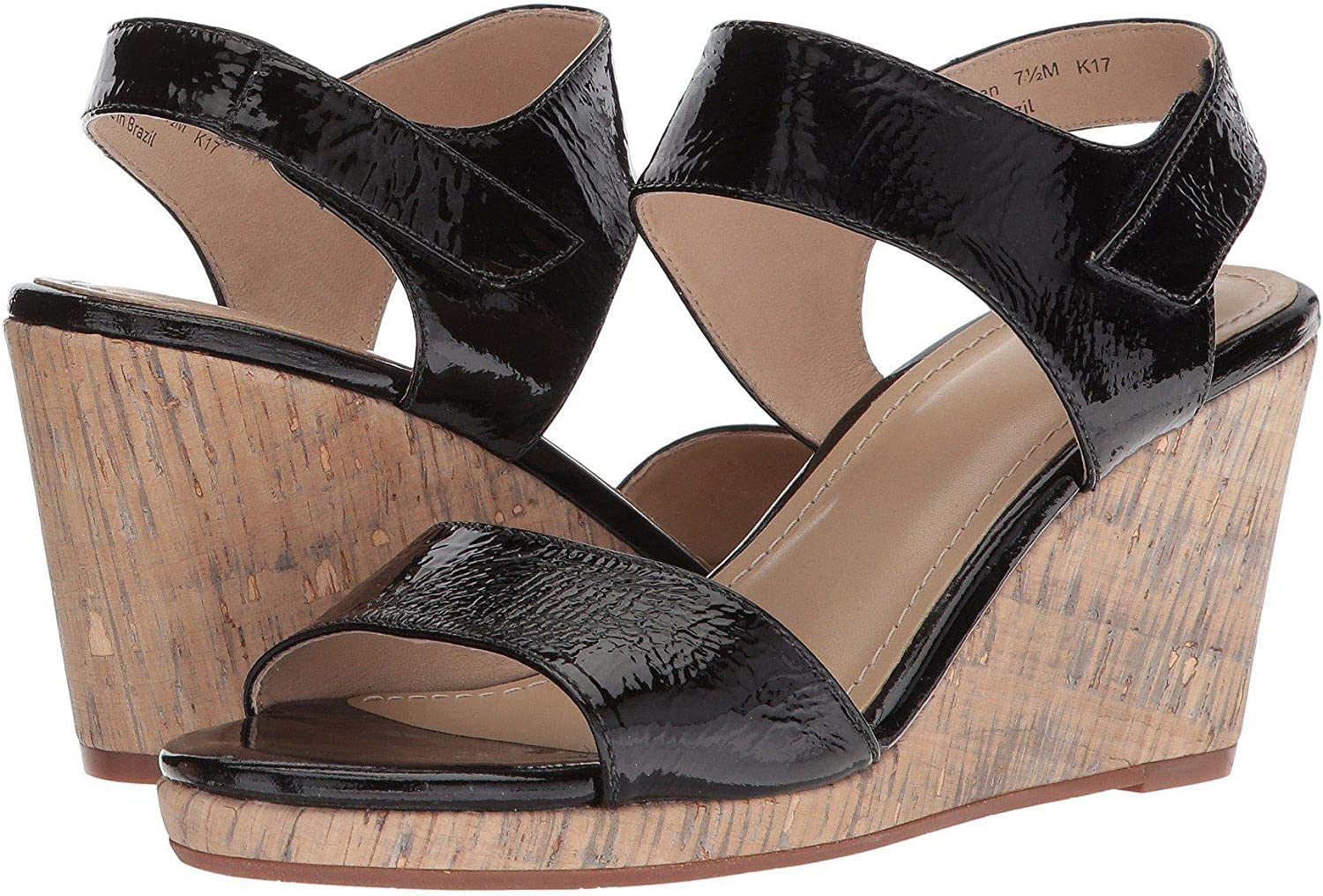 Johnston & Murphy Womens Glenna Leather Open Toe Casual Platform Sandals