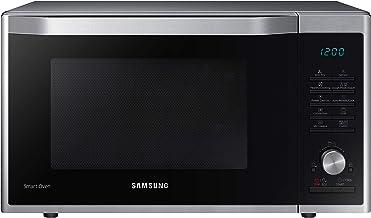 Samsung Microondas combinado MC32J7055CT/EG con parrilla y aire caliente, 900 W, 32 L (extra grande), 52,3 cm de ancho, Slim Frie, programa de masa de levadura, yogur, acero inoxidable, color plateado