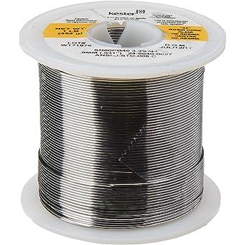 """KESTER SOLDER 24-6040-0027 Wire Solder, 0.031""""Dia., Pack of (1)"""