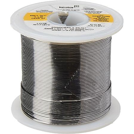 """KESTER SOLDER 24-6040-0027 Wire Solder, 0.031""""Dia., Pack of (1),32117"""