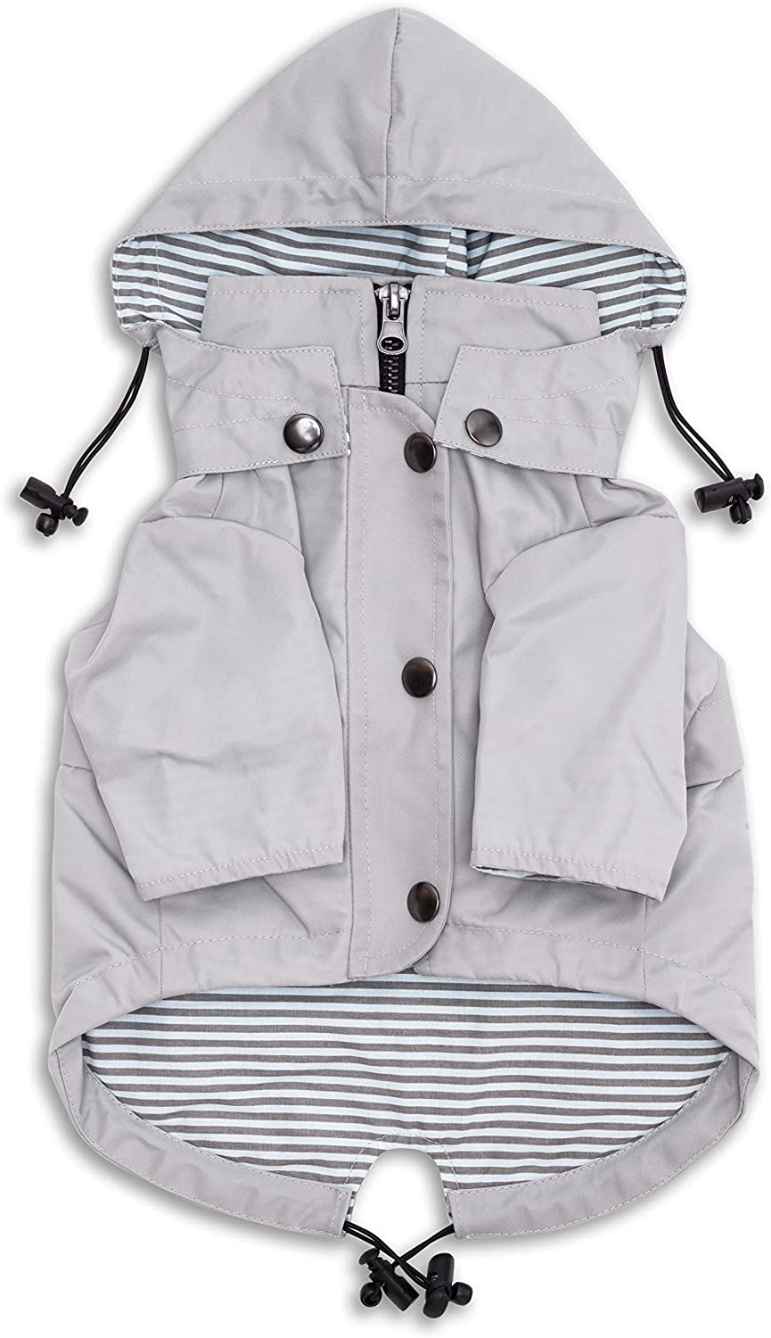 Ranking TOP6 Ellie Dog Wear Zip Topics on TV Up Light Raincoat Gray Pockets Wate with