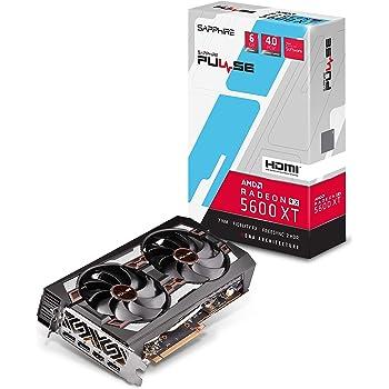 Sapphire 11296-01-20G Radeon Pulse RX 5600 XT 14GBPS 6GB GDDR6 HDMI / Triple DP OC w/ backplate (UEFI) PCIe 4.0 Graphics Card