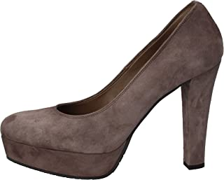 BRUSCHI Heels Womens Suede Grey