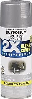 Rust-Oleum 327907 American Accents Spray Paint, 12 oz, Aluminum