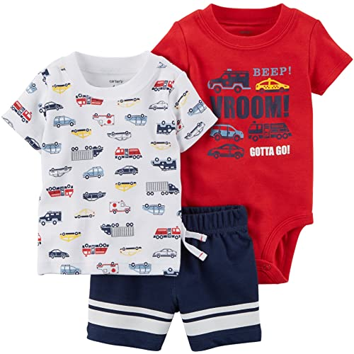 64f97cce0 Carter's Baby Boys' 3-Piece Little Short Sets
