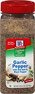 McCormick California Style Garlic Pepper with Red Bell & Black Pepper Coarse Grind Seasoning, 17 oz