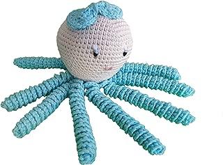 Pulpo amigurumi para recién nacido en color aguamarina Pulpo de ganchillo - crochet para bebé, ideal como regalo de nacimiento.