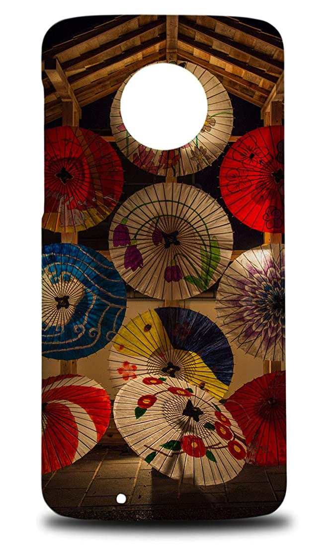 Japanese Umbrella Decorations Hard Phone Case Cover for Motorola Moto G6