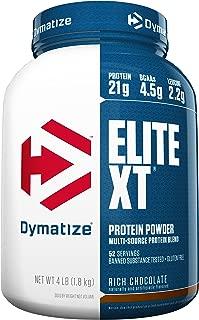 Dymatize Elite XT Extended Release Whey & Casein Protein, Rich Chocolate, 4 Pound