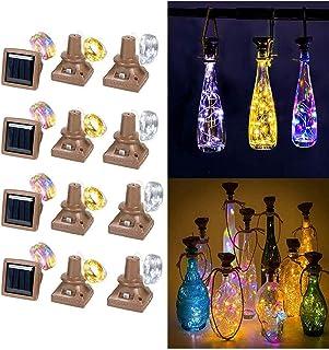 SAFGH Luces solares para Botellas de Vino, 12 Paquetes, 20 Luces LED de Cuerda de Corcho de Cobre a Prueba de Agua, adecua...