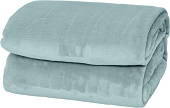 Elle Decor Silky Soft Thick Plush Bed Blanket (Ether, Full/Queen 90 X 90)