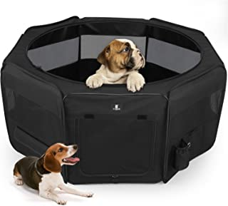"""X-ZONE PET 45"""" Portable Foldable Pet Dog Cat Playpen Crates Kennel/Premium 600D Oxford Cloth,Removable Zipper Top, Indoor and Outdoor Use"""