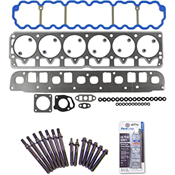 Cylinder Head Gasket Set with Head Bolts Compatible with JEEP GRAND CHEROKEE 4.0L 1999-2003 VIN S