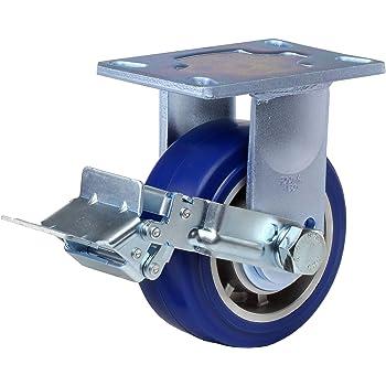 "Swivel with Wheel Brake Dual HD Precision Bearing 4-1//2/"" Plate Width 2200 lbs Capacity 7-1//2/"" Mounting Height FOOTMASTER GF-150B-SF-MCD-FRN Top Plate Caster 6-1//4/"" Plate Length 6 x 2-1//2/"" Wheel MC Nylon Wheel"
