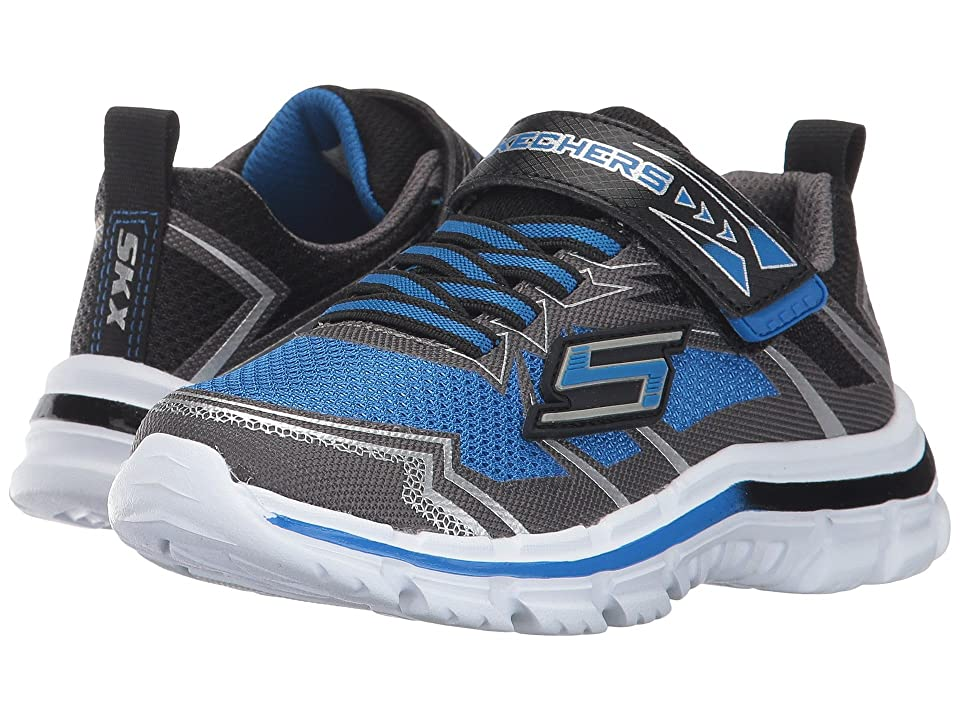 SKECHERS KIDS Nitrate (Little Kid/Big Kid) (Royal Black) Boy