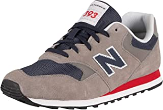 New Balance Men's 393 Suede Trainers, Grey