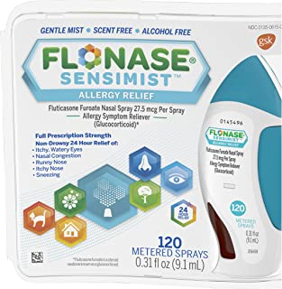 Best Flonase Sensimist Allergy Relief Nasal Spray Non Drowsy Allergy Medication, Gentle Mist - 120 Sprays Review