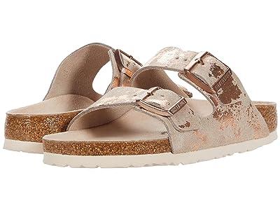 Birkenstock Arizona (Vintage Metallic Rose Copper Leather) Shoes