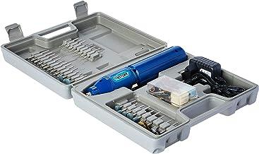 Kit Com 62 Peças Retifica Elétrica Western Kit Com 62 Peças Retifica Elétrica Micro Retifíca Azul, Maleta Cinza