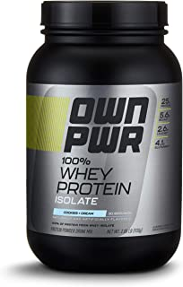 OWN PWR 100% Whey Protein Isolate Powder, Cookies & Cream, 25 G Protein, 2 Pound (30 Servings)