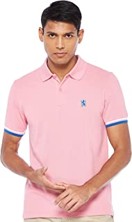 Giordano Men's 01017008 Embroidery lion polo shirt