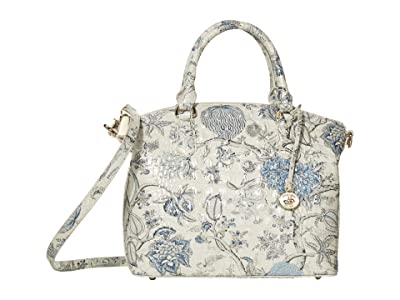 Brahmin Melbourne Duxbury Satchel (Blue Jay) Satchel Handbags