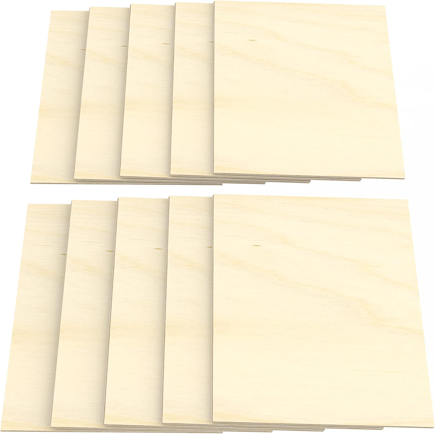 210 mm x 297 mm AUPROTEC 3X A4 Plywood Sheets 3mm Birch First Class Birchwood Solid ply Wood Hardwood Panels for Arts and Crafts fretsaw Woodworking jigs Painting Drawing Board