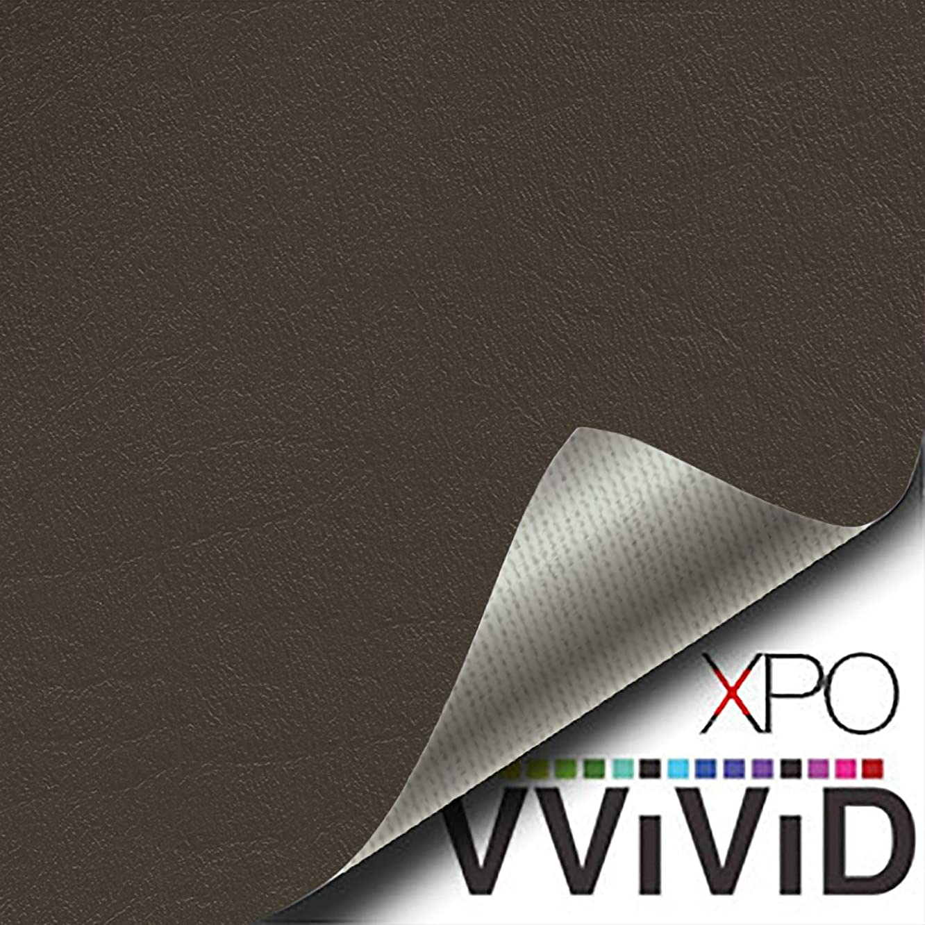 VViViD Charcoal Grey Weatherproof Faux Leather Finish Marine Vinyl Fabric (1.5ft x 54
