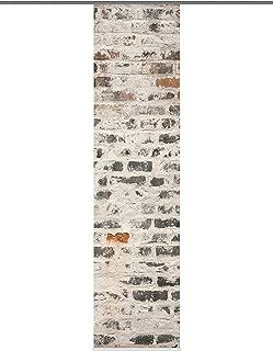 Home Fashion 87269-703 Weston - Panel japonés, 245 x 60 cm, diseño de Seda con impresión Digital, Color Gris
