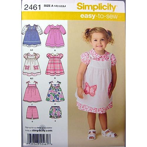 Simplicity 2461 - Cartamodelli per realizzare vestiti per bambini A 1 2-1- a006cd617510