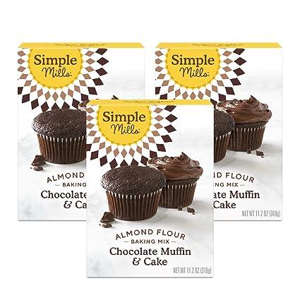 Simple Mills Almond Flour Baking Mix, Gluten Free Chocolate Cake Mix