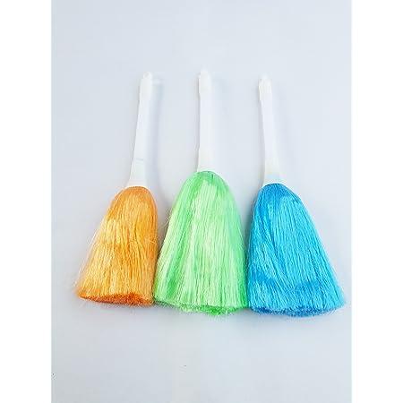 Vapok® Mini Multipurpose Electrostatic Soft Nylon Bristles Small Plastic Cleaning Brush Broom with Hook (8.5 Inch, Random Colour) -3 Pieces