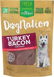 Freshpet, Dog Treat Dognation Turky Bacon, 3 Ounce