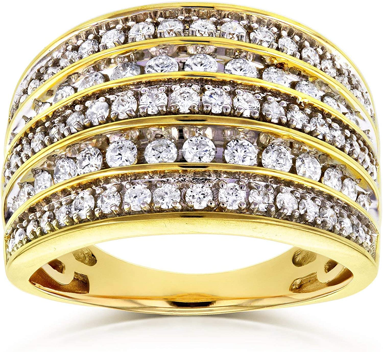 Kobelli Diamond Anniversary Ring Wide In Band 1ct TDW Multi-Row Max Max 71% OFF 42% OFF