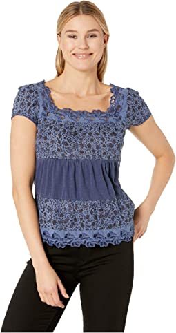 Tiered Cap Sleeve Top